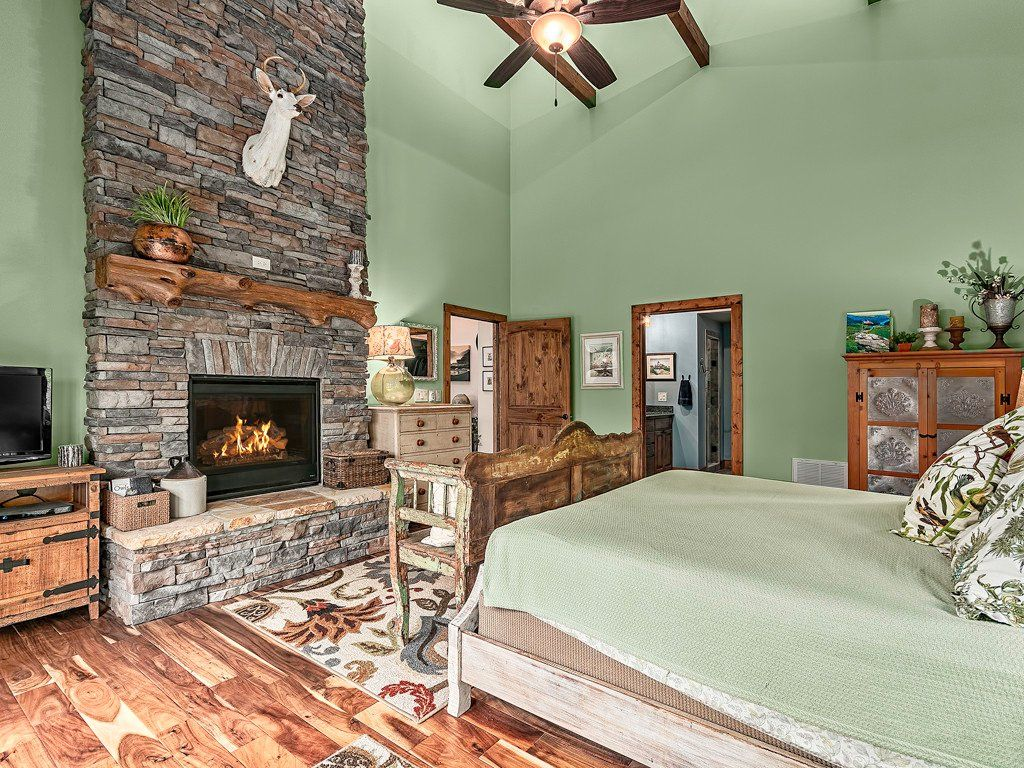 2 story master bedroom   Chapel Point Road in Lake Lure NC  MLS   Custom