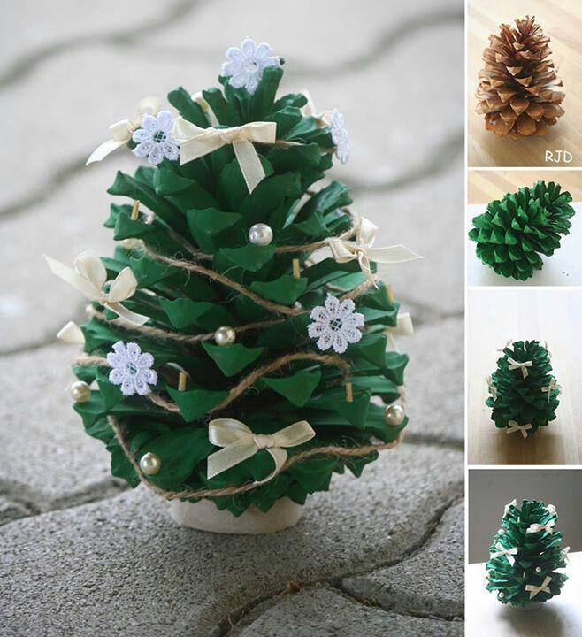 Pine Cone Christmas Craft Ideas Part - 21: DIY Christmas Ideas To Do With Your Kids - Pine Cone Christmas Ornament.