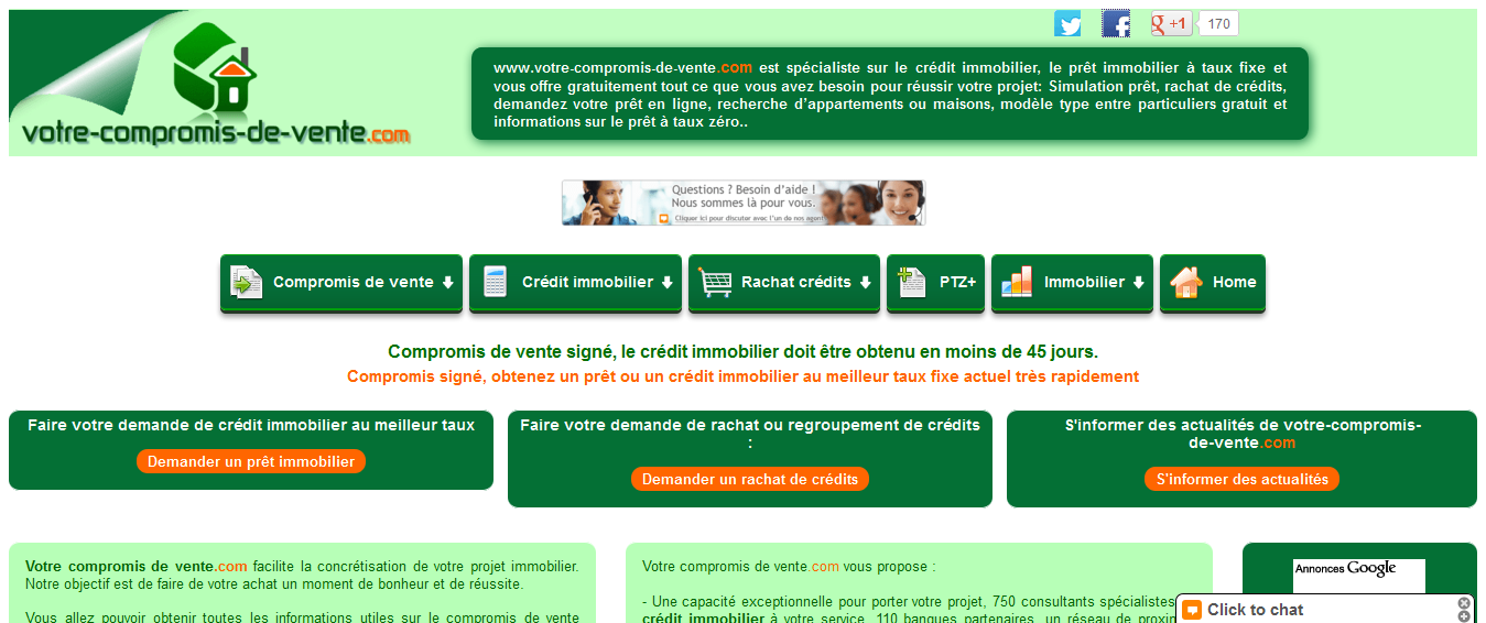 credit immobilier 45 jours