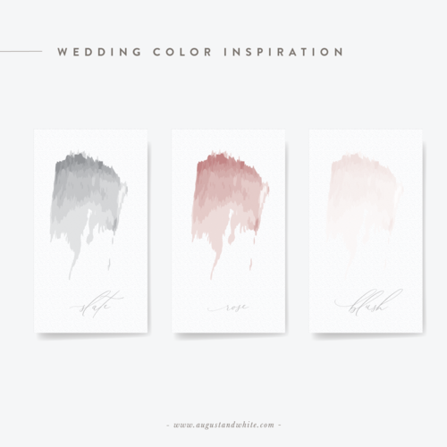 Wedding Color Palette Inspiration | Wedding Invitations | Wedding Save the Dates | August and White