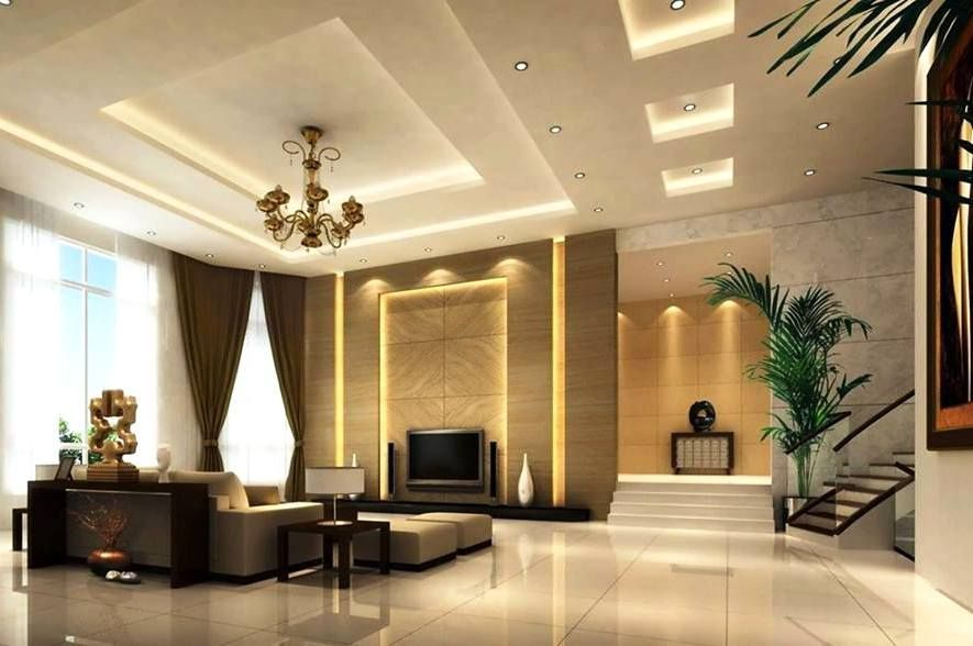 Pop Design For Small L Shape Hall Ceiling Design Living Room