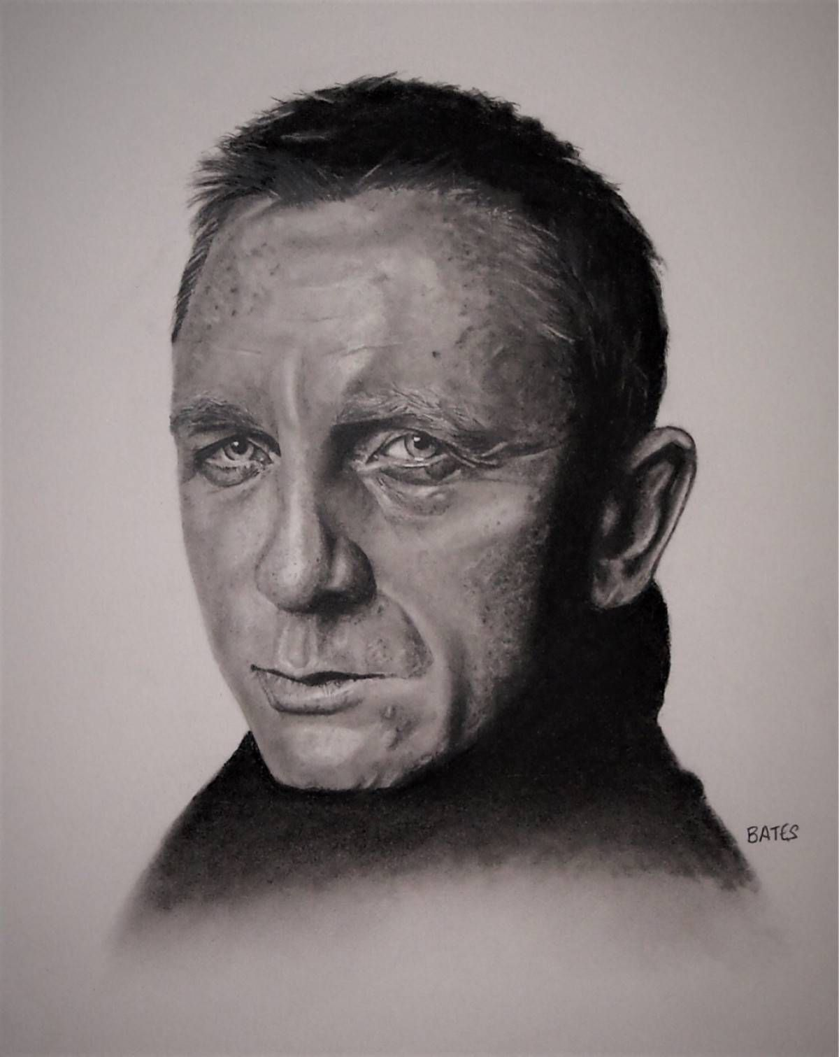 This amazing pencil portrait was drawn by talented artist david bates danielcraig jamesbond007 jamesbond 007 portraits pencilportraits