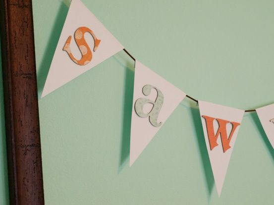 Bunting name banner DIY with free bunting template Props - To Make