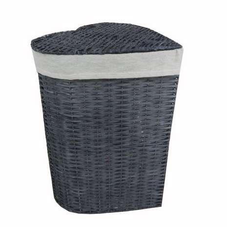 Grey Heart Wicker Laundry Basket Laundry Basket Wicker Laundry