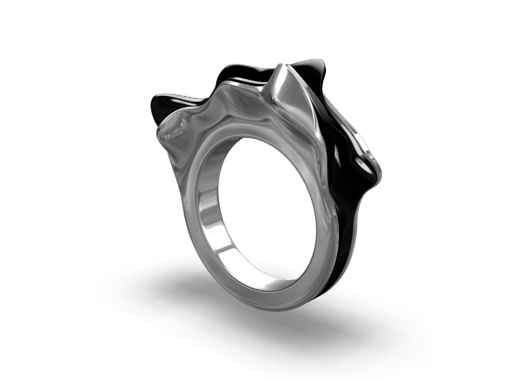 Organic Ring A Jewerlry Model Created With Vectary The Free Online Modeling Tool