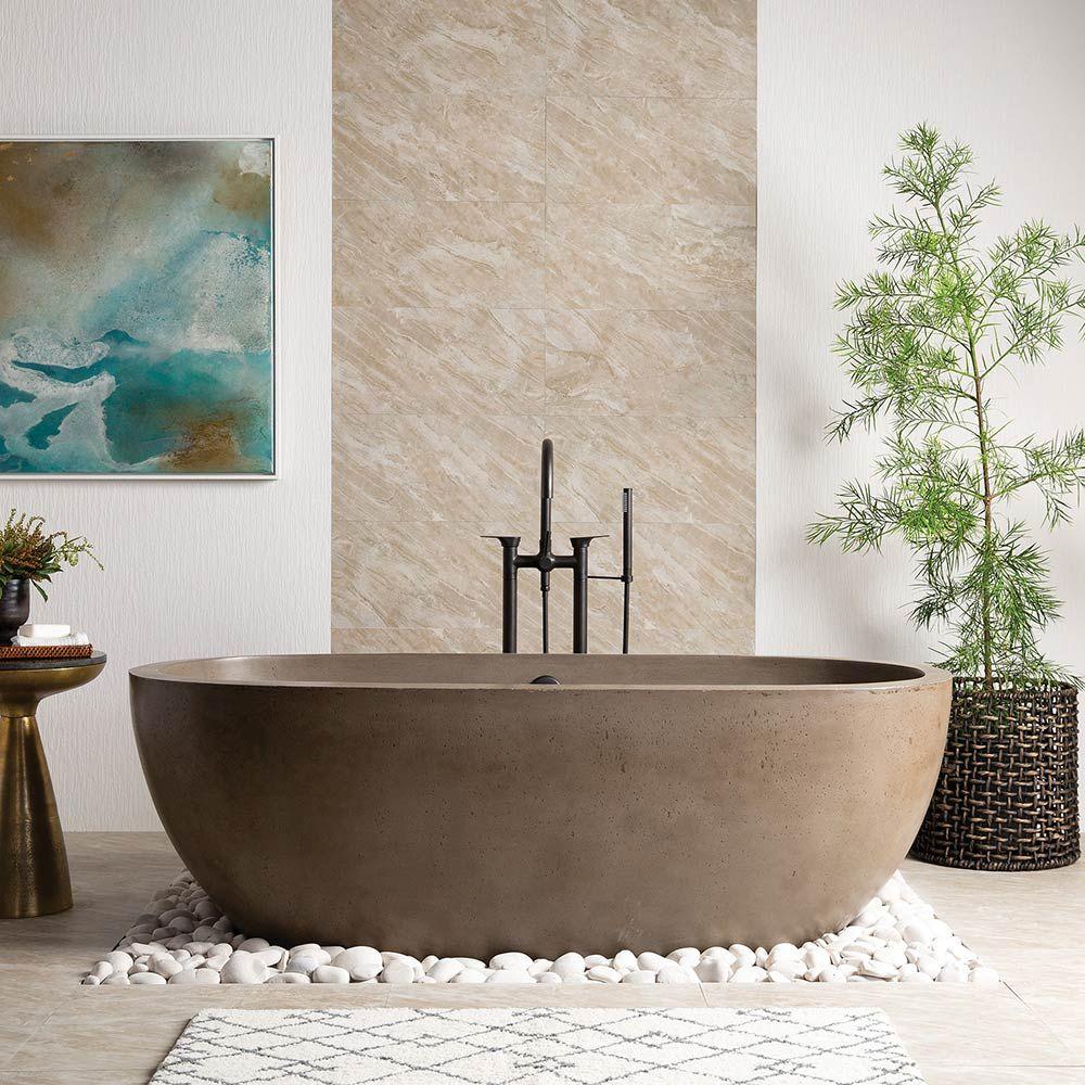 New 2019 Native Trails Concrete Bathtub Stone Bathtub Free Standing Bath Tub