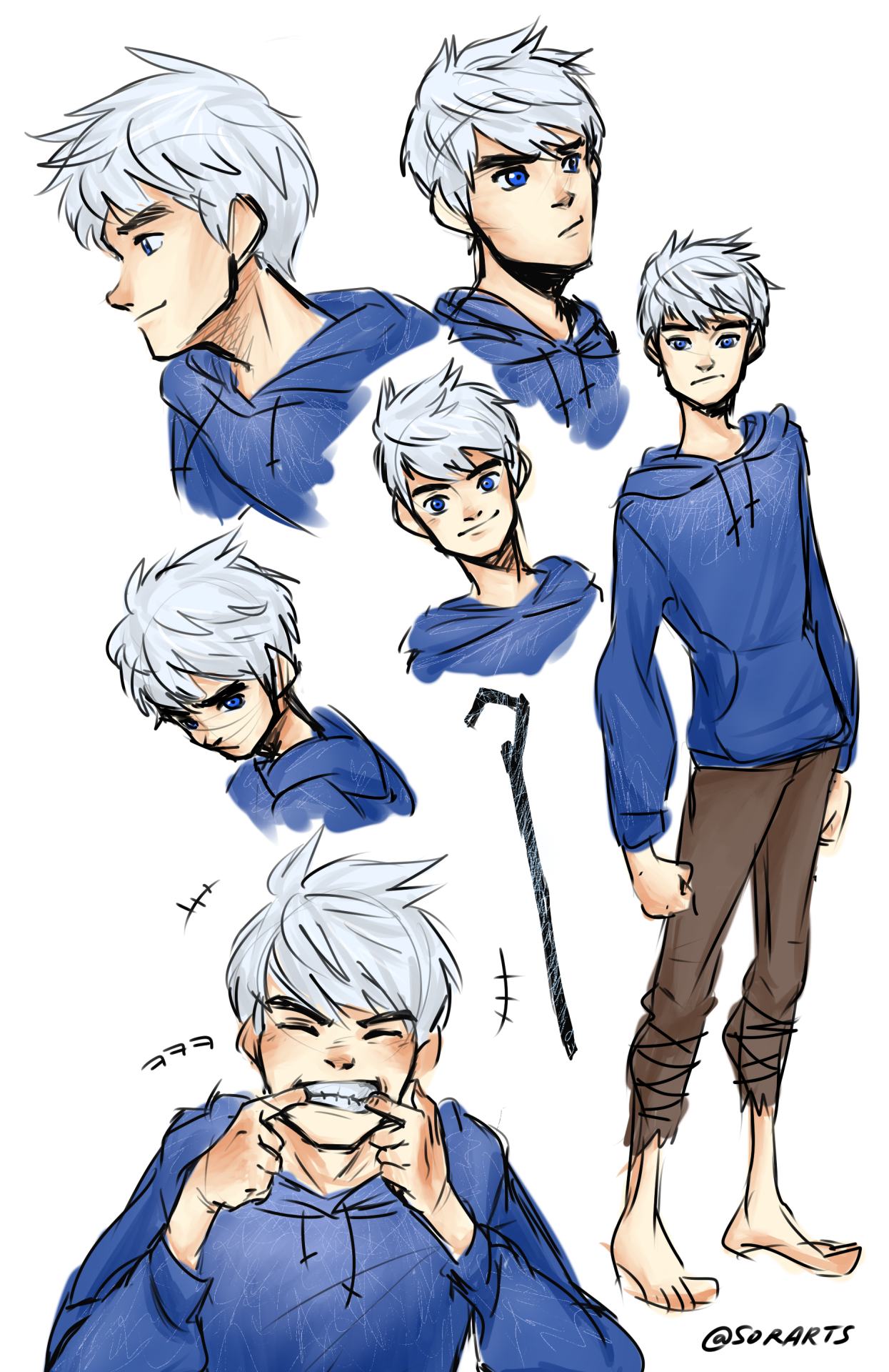 sorartspracticing how to draw jack (ノ・ェ・)ノ Jake frost