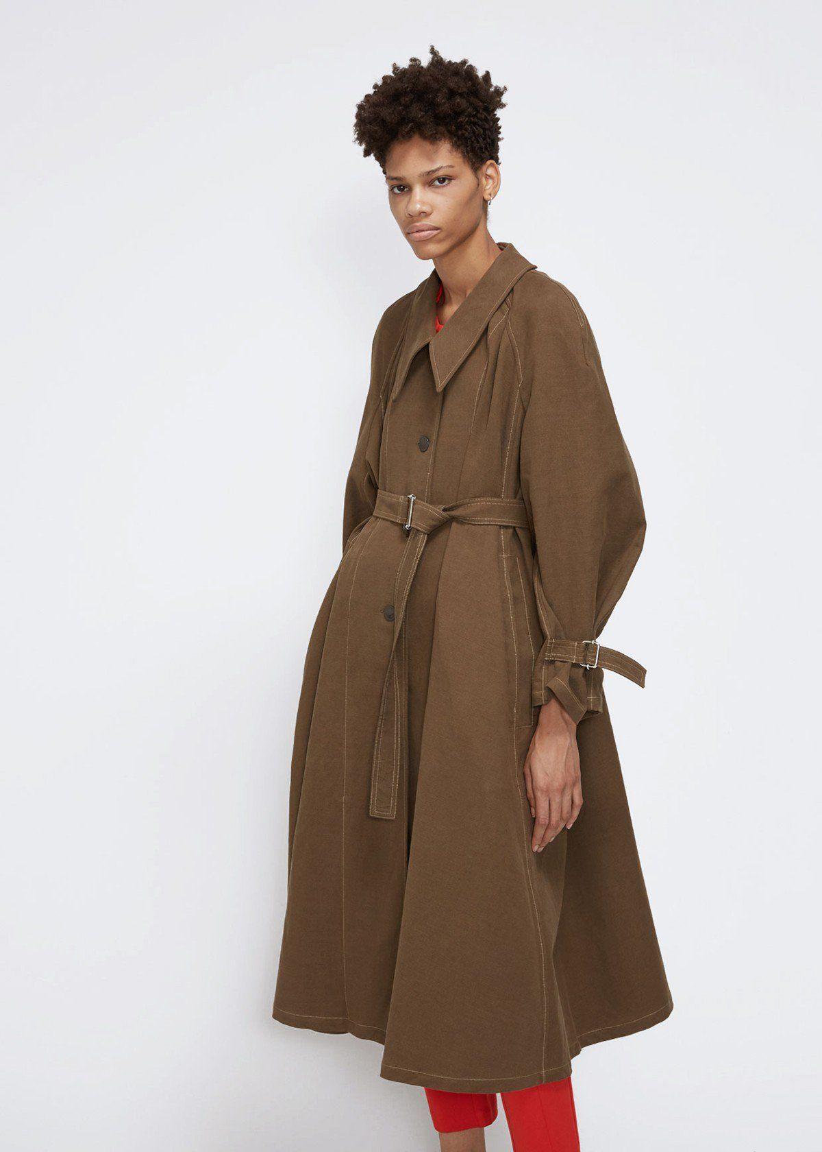 1190f558776 Lemaire Cotton-Linen Overcoat
