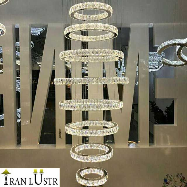 لوستر آویز هشت طبقه ایران
