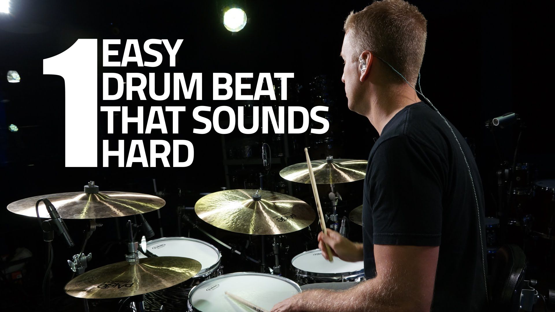 Drum Lesson One Easy Drum Beat That Sounds Hard Drums Beats