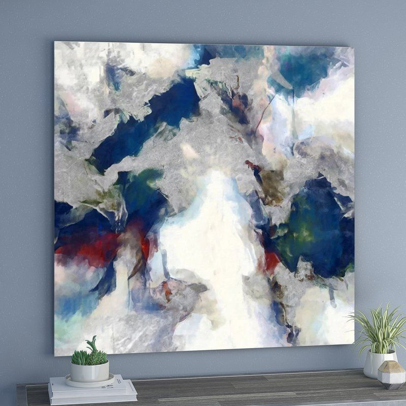 Explosive Shade Abstract Art Wrapped Canvas Print Abstract Oversized Wall Art Abstract Canvas Art