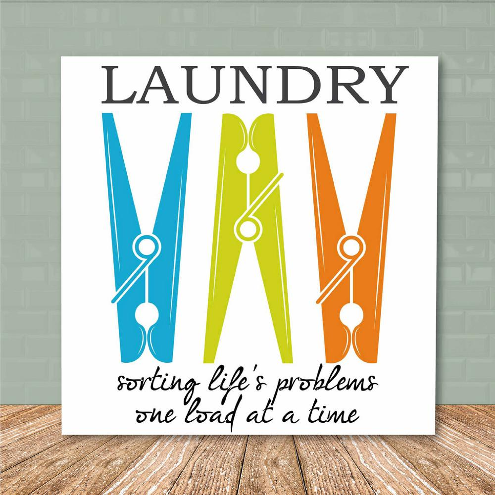 Courtside Market 16 In X 16 In Laundry Room Iii Canvas Printed Wall Art White Laundry Sorting Wall Prints Wall Art Prints