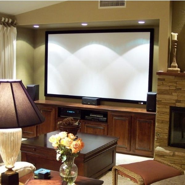 100 Inch Fixed Frame Projection Screen 16 9 Support 3d Cinema Projector Screen 5 3 X 9 4ft Black Velvet 80m Projector Screen Media Room Design Cinema Projector