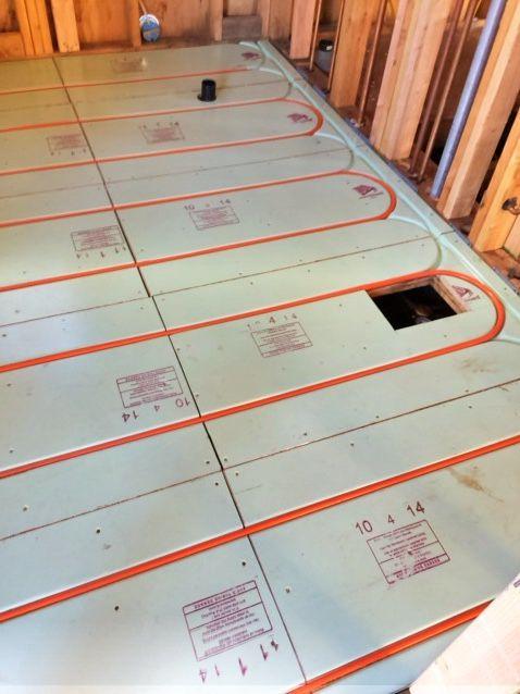 Radiant Floor Heating Install