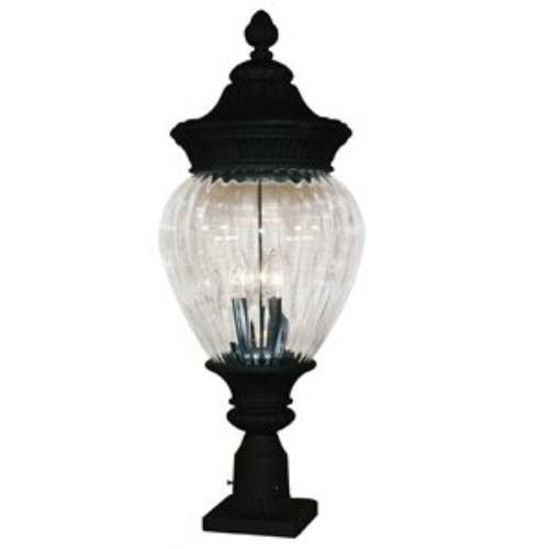 Z-Lite Devonshire Collection Black Finish Outdoor Post Light