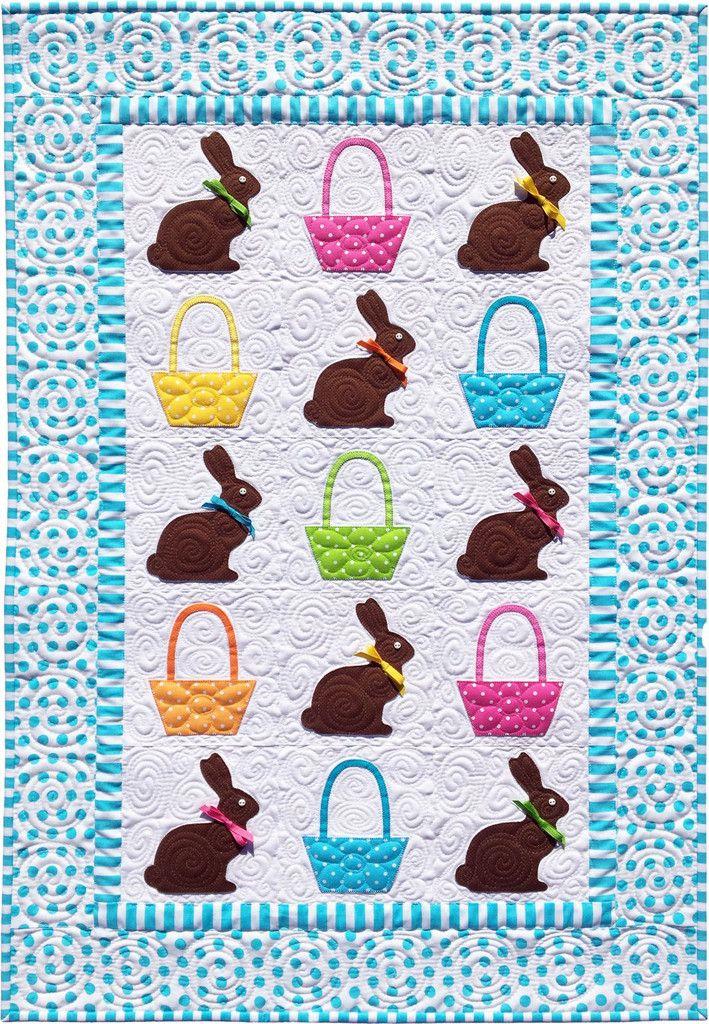 Chocolate Bunnies Quilt Pattern   Ostern, Miniatur und Nähen