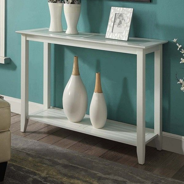Convenience Concepts Carmel Console Table ($115) ❤ Liked On Polyvore  Featuring Home, Furniture