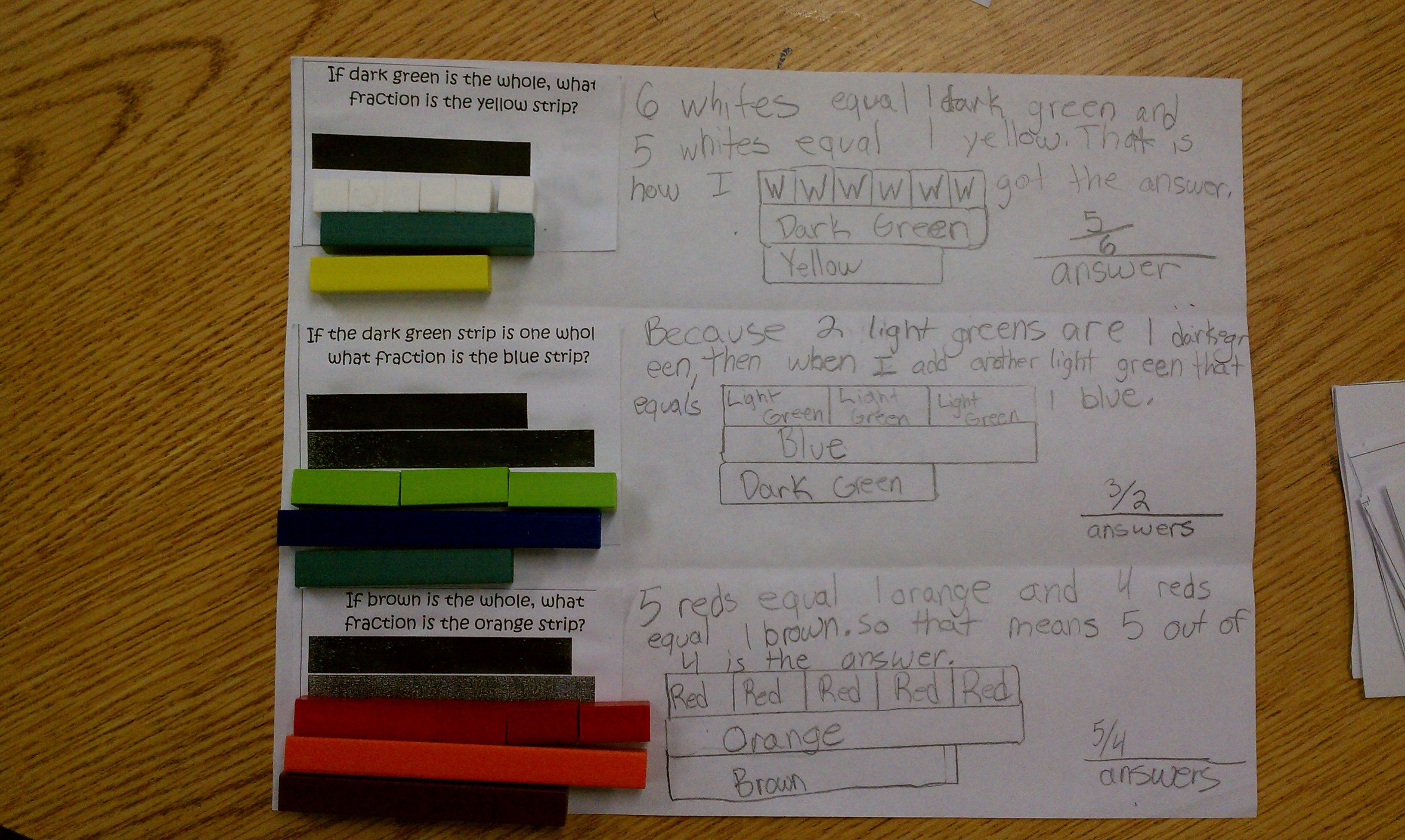 Using Cuisenaire Rods To Find The Parts And The Whole Of