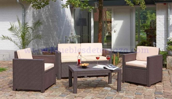 Sofas De Resina Sintetica Para La Terraza Muebles De Jardin