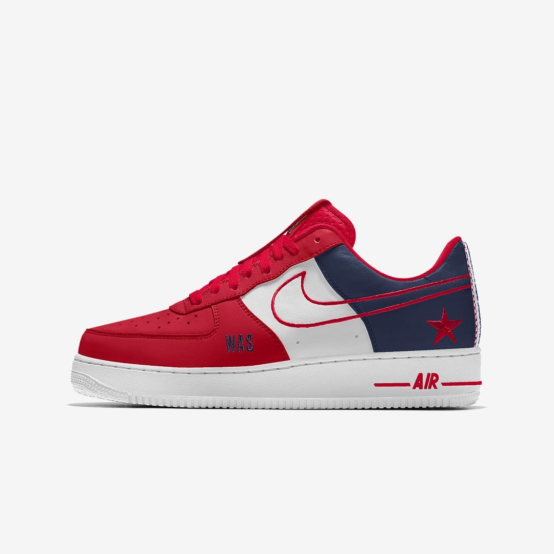 2881c1767bf0 Nike Air Force 1 Low Premium iD (Washington Wizards) Men s Shoe Size 4 ( Multi-Color)