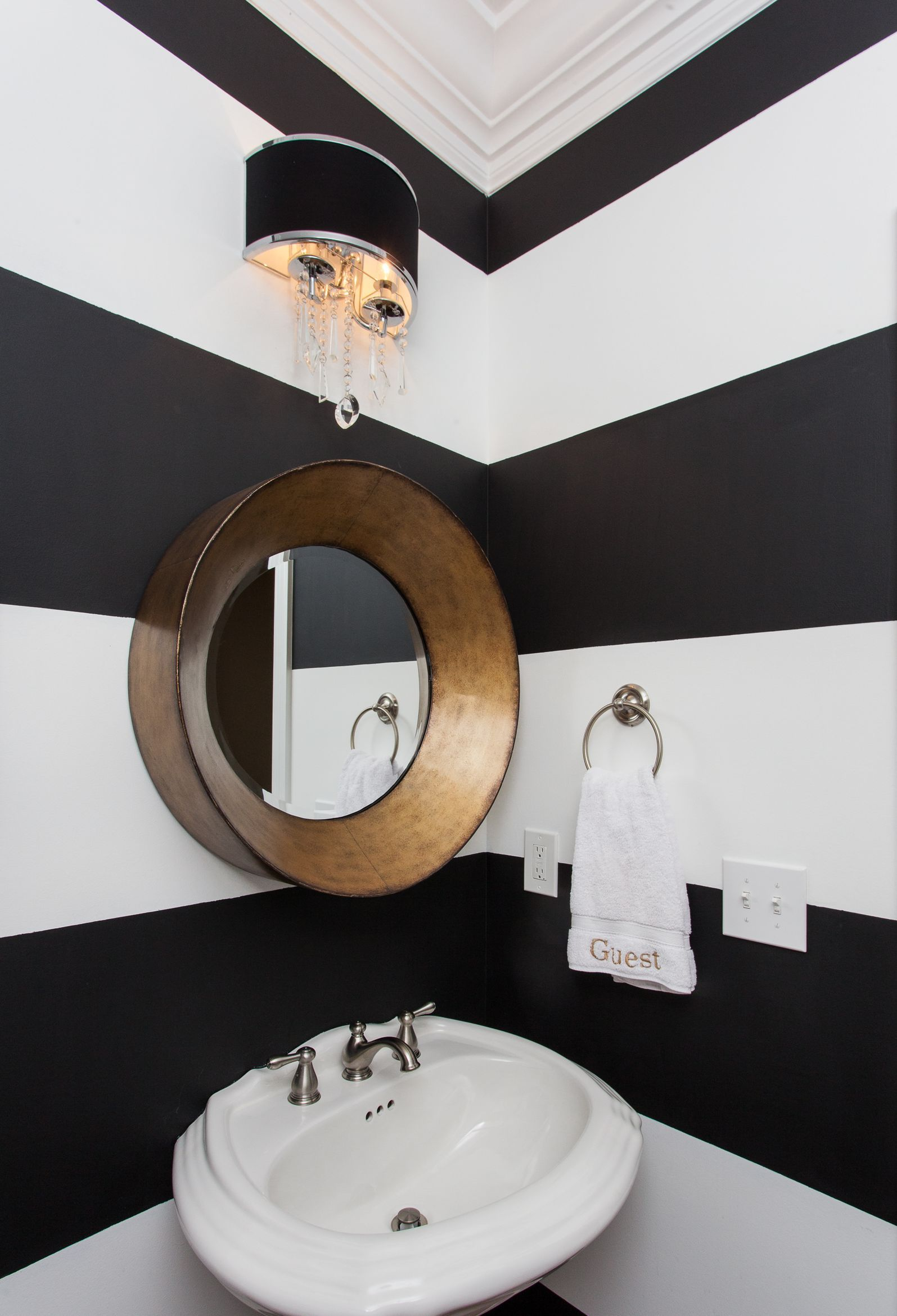 815 1st floor powder room.  Modern Bathroom - Eclectic - Bathroom - Images by Blondiesloft | Wayfair