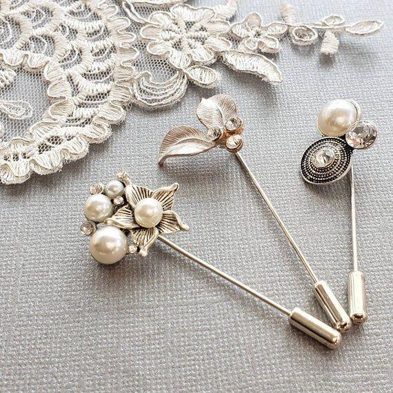 Photo of Hijab Pin Set, Scarf Pin, Statement Pin, Rhinestone Hijab pin, Stick Pins, Ramadan Gift, Eid Gift, G