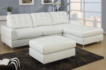 The Lancaster Cream Leather Sectional Sofa By Urban Cali Offers A Modern Style For Your Home And White Leather Sofas White Sectional Sofa Leather Chaise Sofa