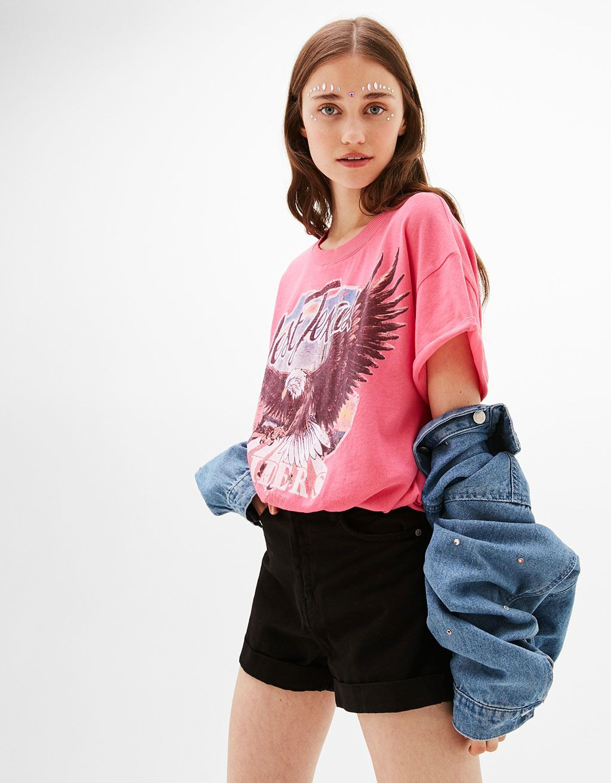 Krtka Koszulka Nadrukiem Bershka Koszulki Kobieta