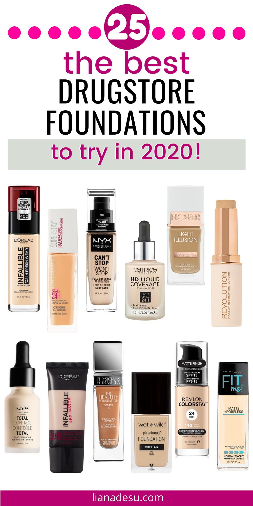 25 Best Drugstore Foundations Liana Desu In 2020 Best Drugstore Foundation Combo Skin Best Drugstore Makeup