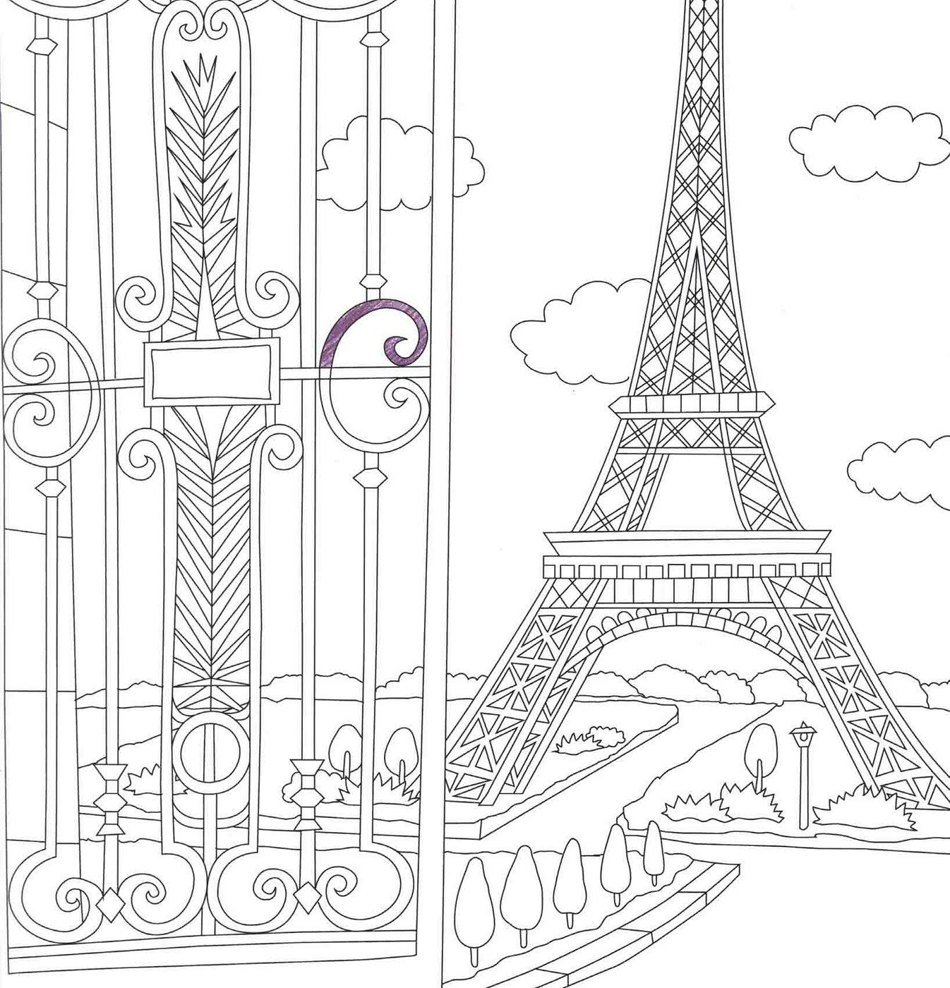 France Coloring Travel Book Adult