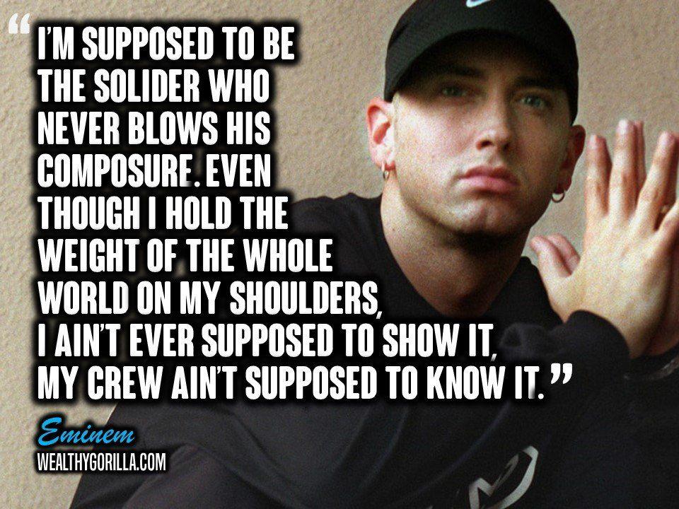 83 Greatest Eminem Quotes & Lyrics of All Time | Eminem