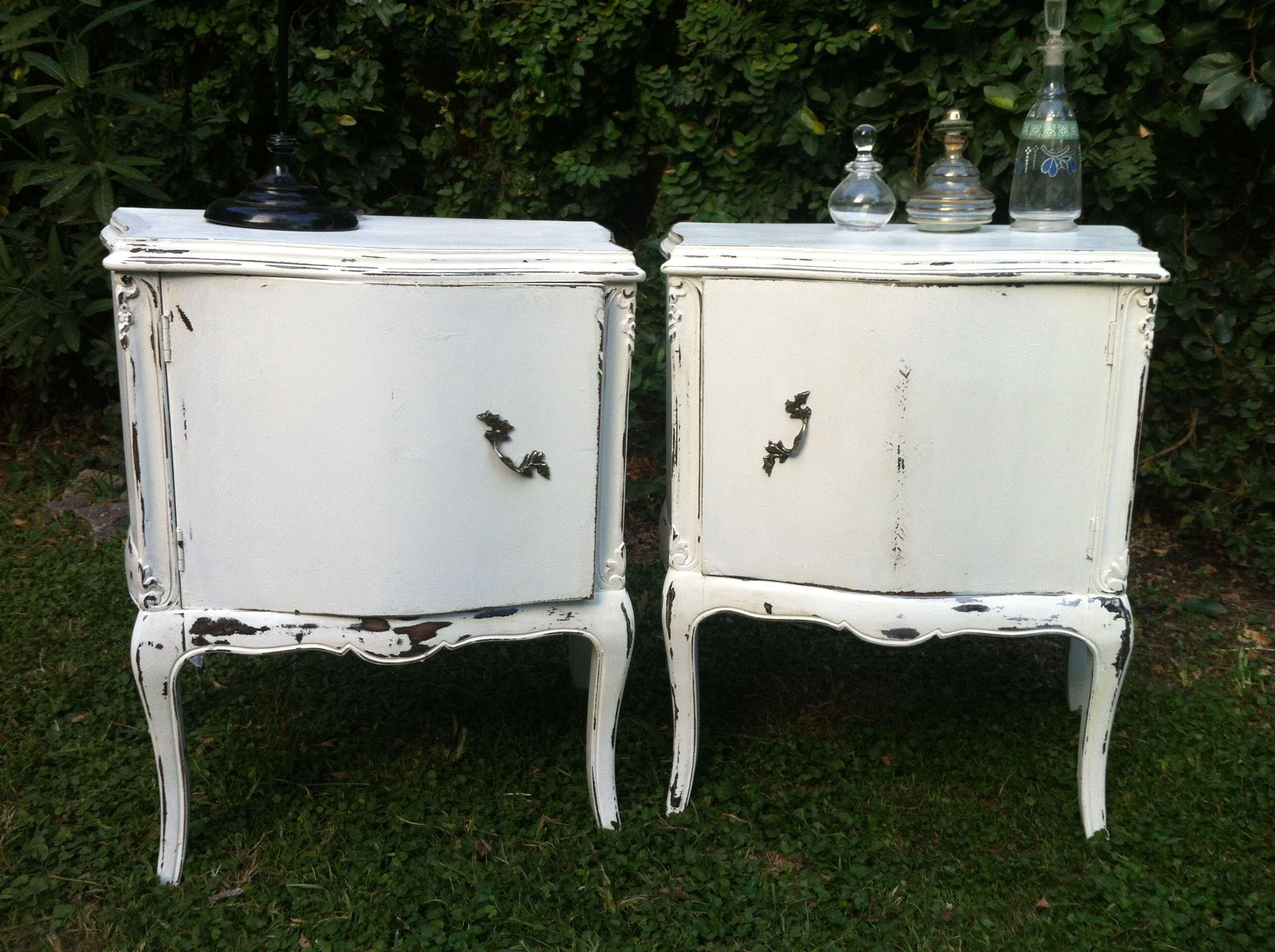 Mesas francesas blancas decapadas muebles muebles for Muebles franceses
