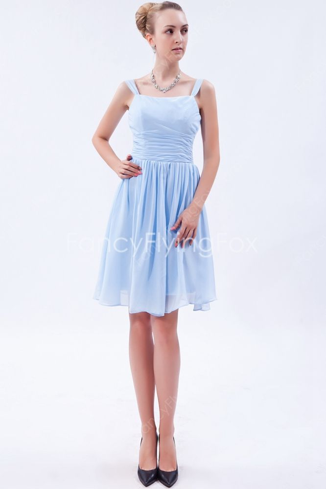 fancyflyingfox.com Offers High Quality Sky Blue Chiffon Straps Mini ...