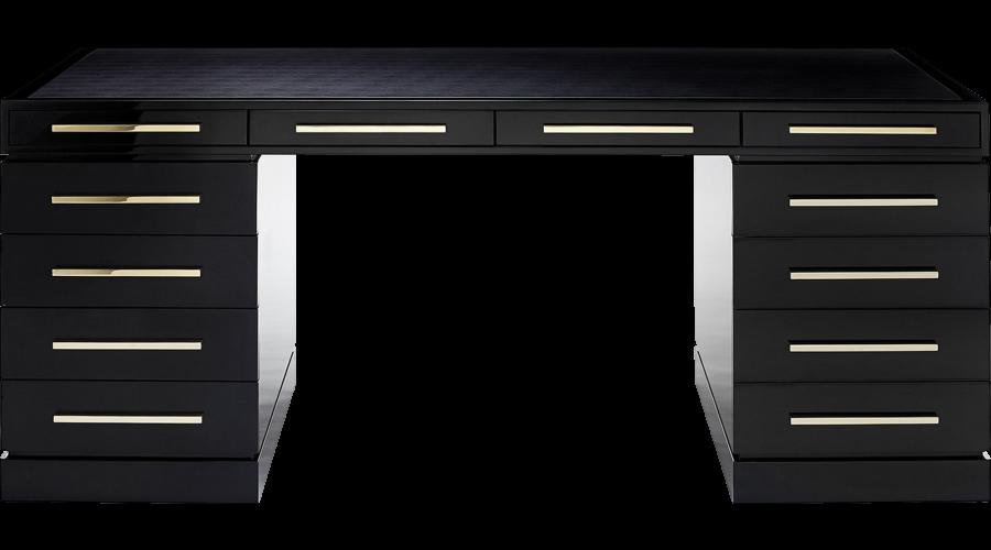 The Wellington Desk Desk With Drawers Black Desk Desk