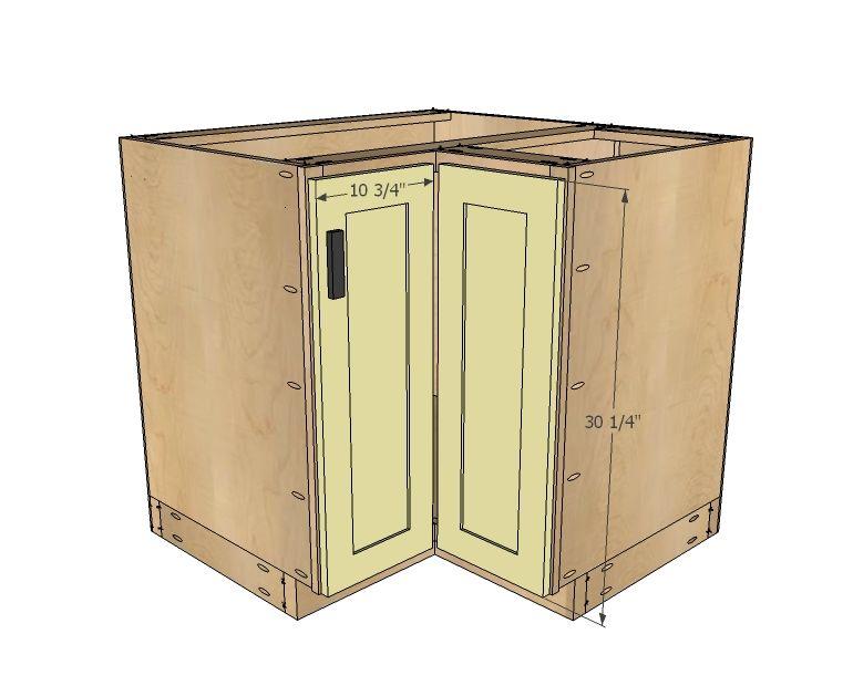Ana White  Build a 36 Corner Base Easy Reach Kitchen
