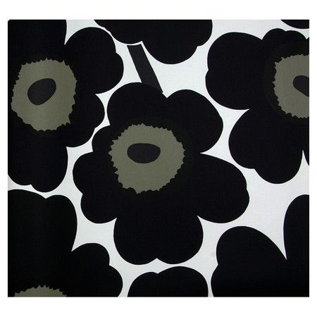 Modern floral wallpaper.   Product: WallpaperConstruction Material: PVCColor: Black and white