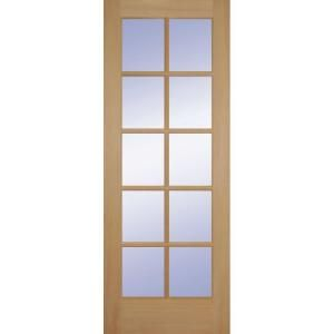 Builder S Choice 32 In X 80 In Fir 10 Lite Interior Door Slab Hd1510s28 The Home Depot Doors Interior Slab Door French Doors Interior