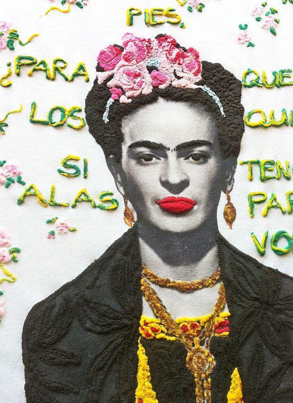 Frida Kahlo Camiseta Tshirt 3D Painting frida Tee Pintada by Quor