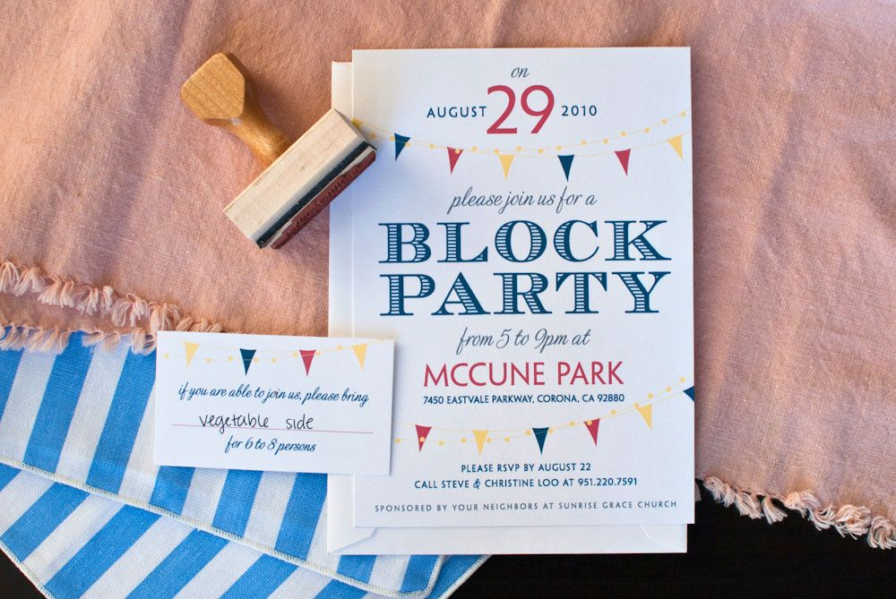 neighborhood block party invitations - Google Search | Parties ...