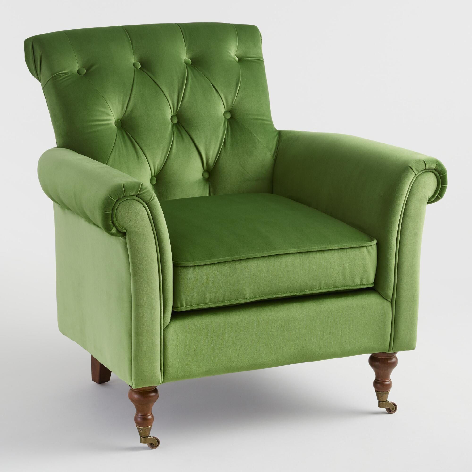 Light Green Dimitra Roll Arm Chair By World Market Green Chair