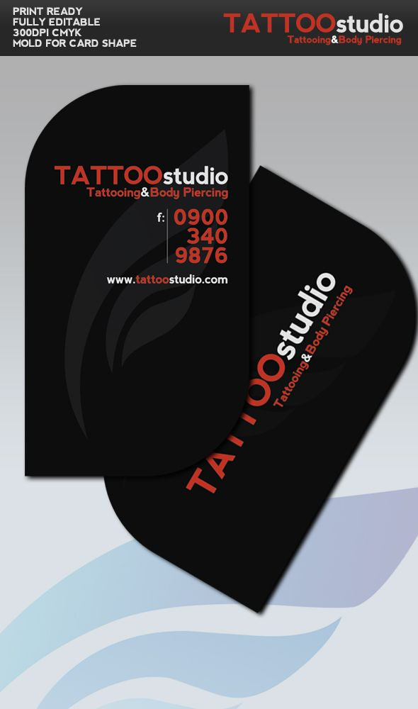 this design is so sophisticated, nice to see a tattoo shop business ...