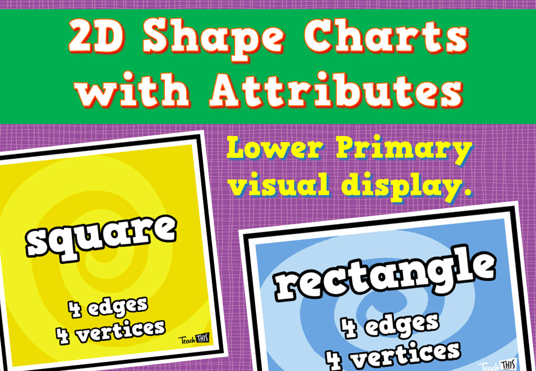 2D Shape Charts with Attributes | charts for my first classroom ...