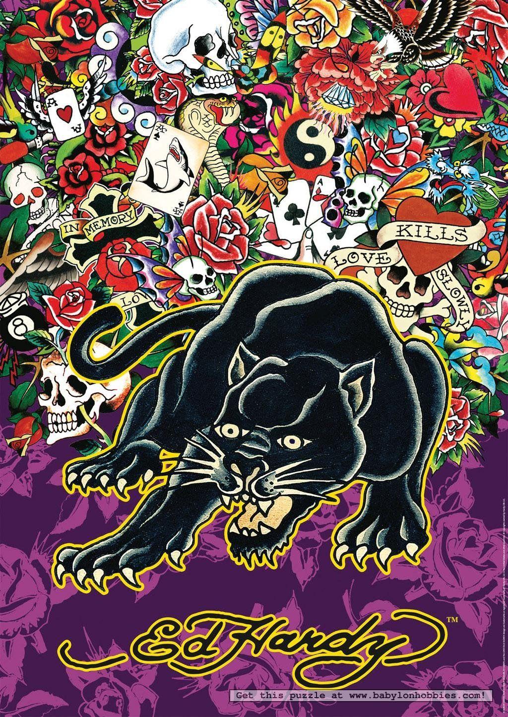 Jigsaws & Puzzles Ravensburger Tiger Ed Hardy 1000pc Jigsaw