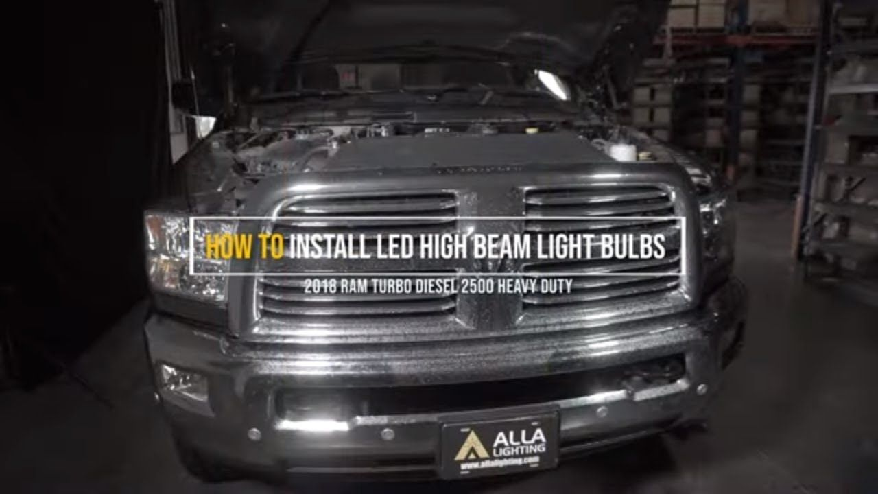 Install 2019 2020 Dodge Ram 1500 High Beam Headlight 9005 Led Bulb Led Lights For Trucks Dodge Ram 1500 High Beam