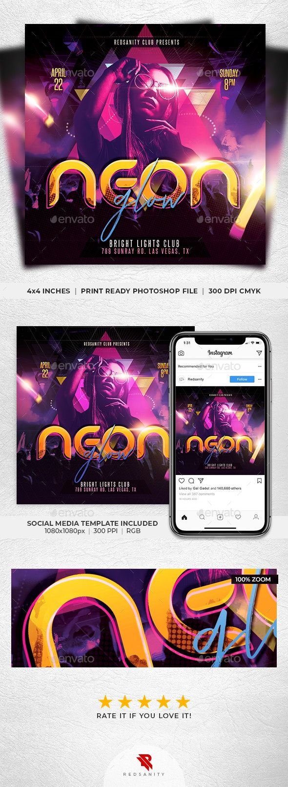 Pin by Maria Alena on Event Flyer Neon glow, Flyer