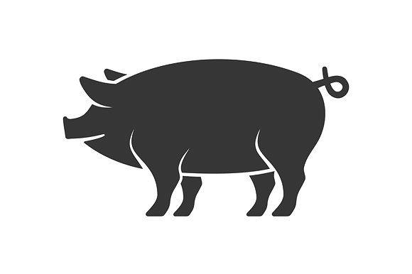 Pig Icon Pig Silhouette Pig Pig Illustration