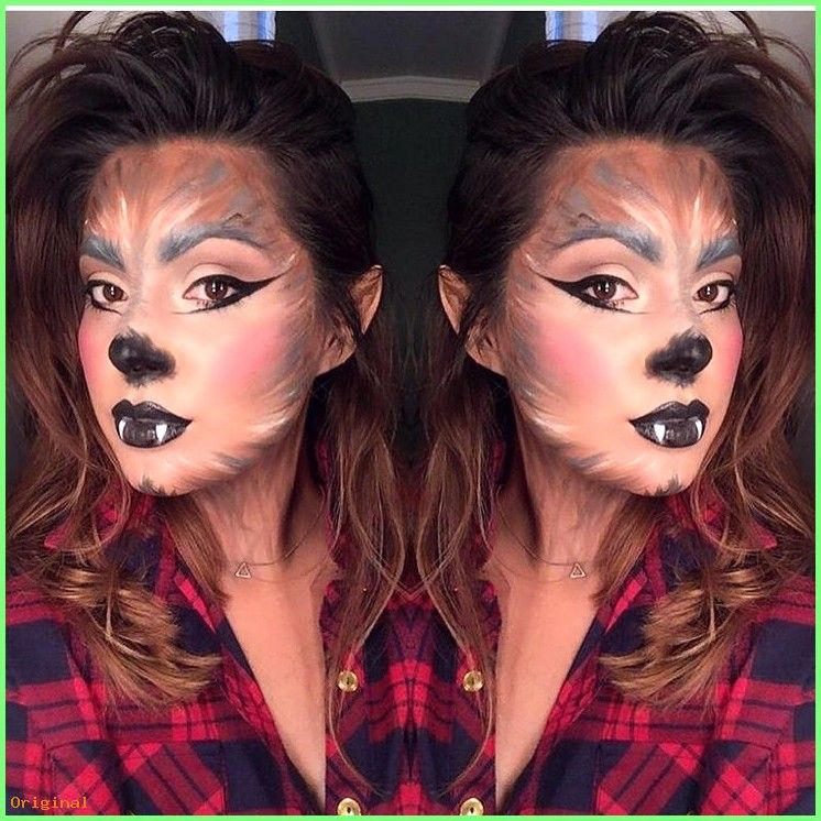 50 Make Up Wolf Make Up Halloweenfacemakeup Halloween Gesichtsmake Up Make Up101 Wolf Costume Werewolf Makeup Wolf Makeup