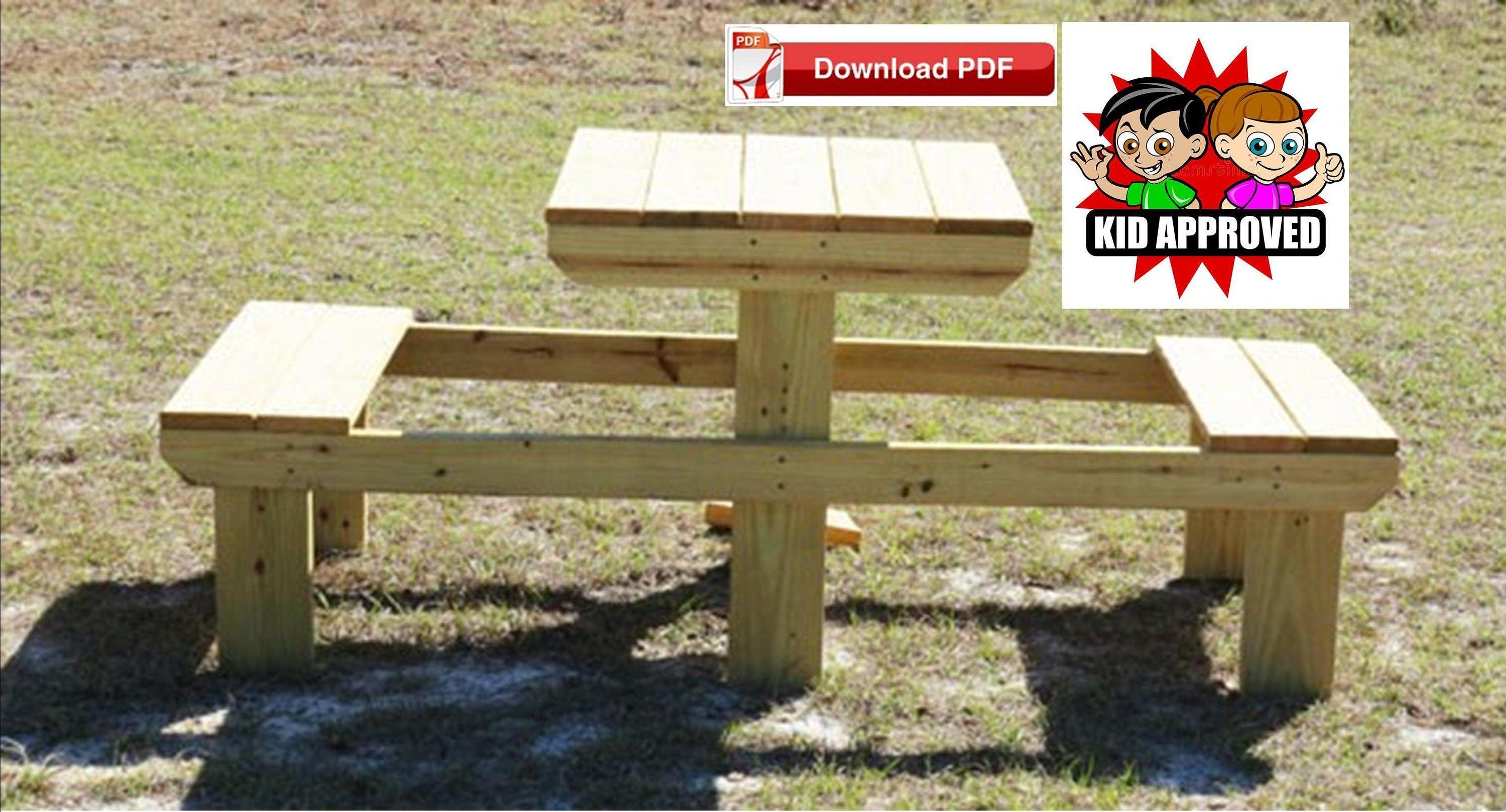 Small Picnic Table Plan Childrens Picnic Table Plan Mini Picnic Table Plan Compact Picnic Table Plan K In 2020 Kids Picnic Table Picnic Table Plans Outdoor Table Plans