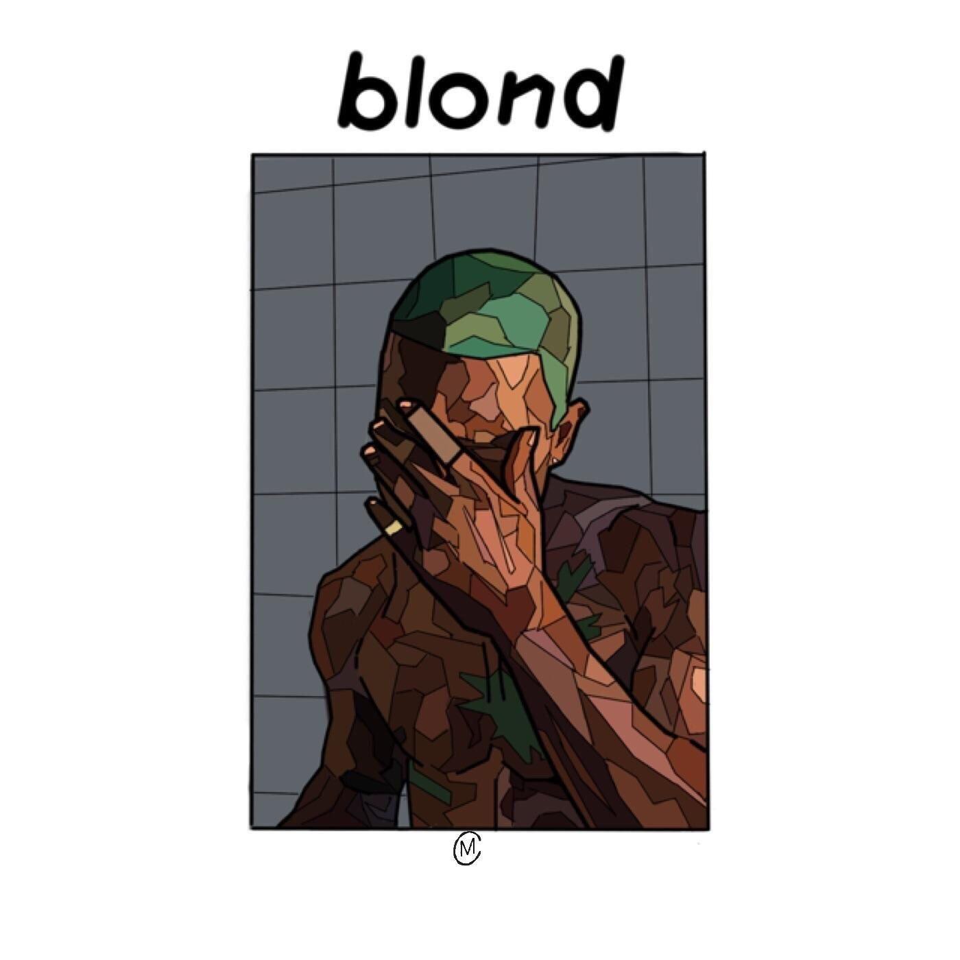 album drawing frank ocean blonde