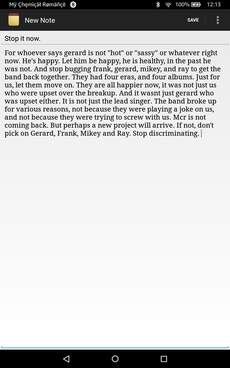 My note to all the mcr fans.